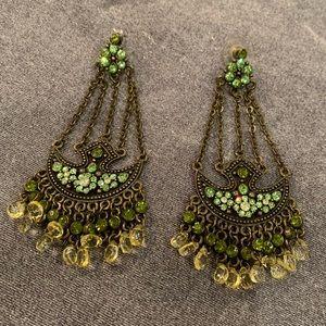Jewelry - 🆕🔥Green Chandelier Earrings